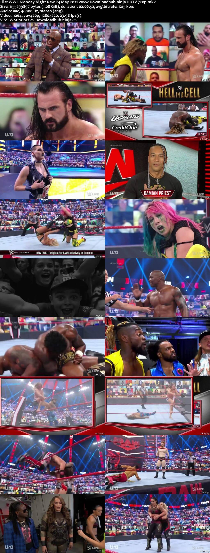 WWE Monday Night Raw 24th May 2021 720p 500MB HDTVRip 480p