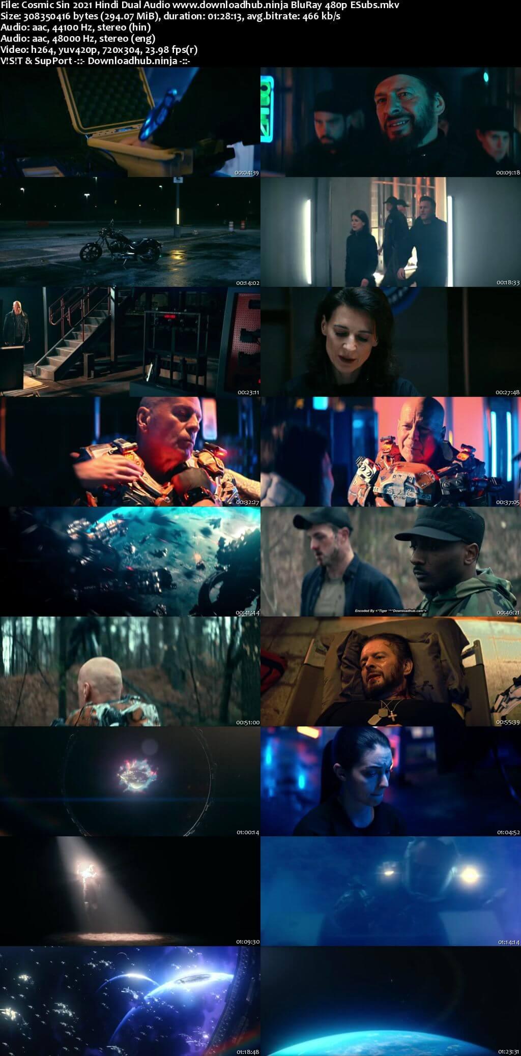 Cosmic Sin 2021 Hindi Dual Audio 300MB BluRay 480p ESubs