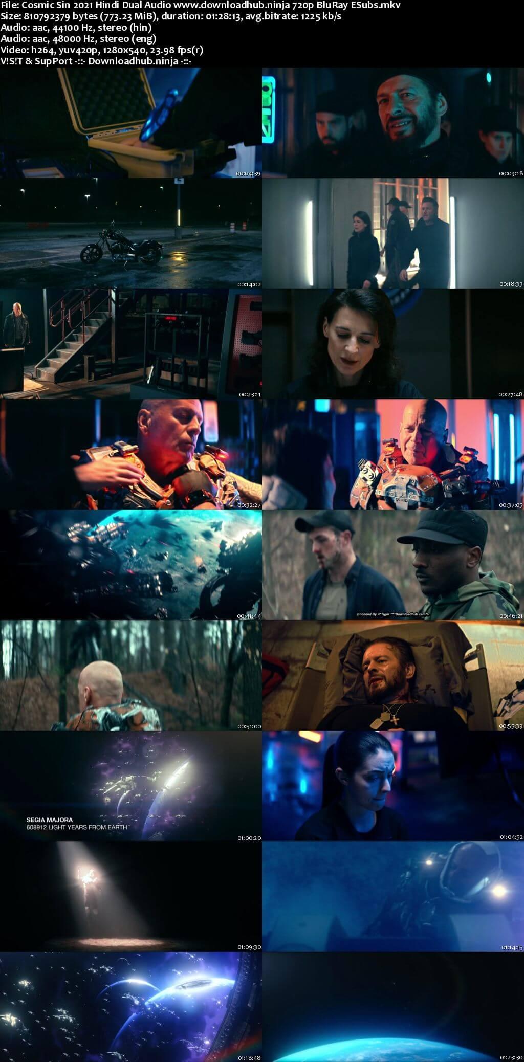 Cosmic Sin 2021 Hindi Dual Audio 720p BluRay ESubs