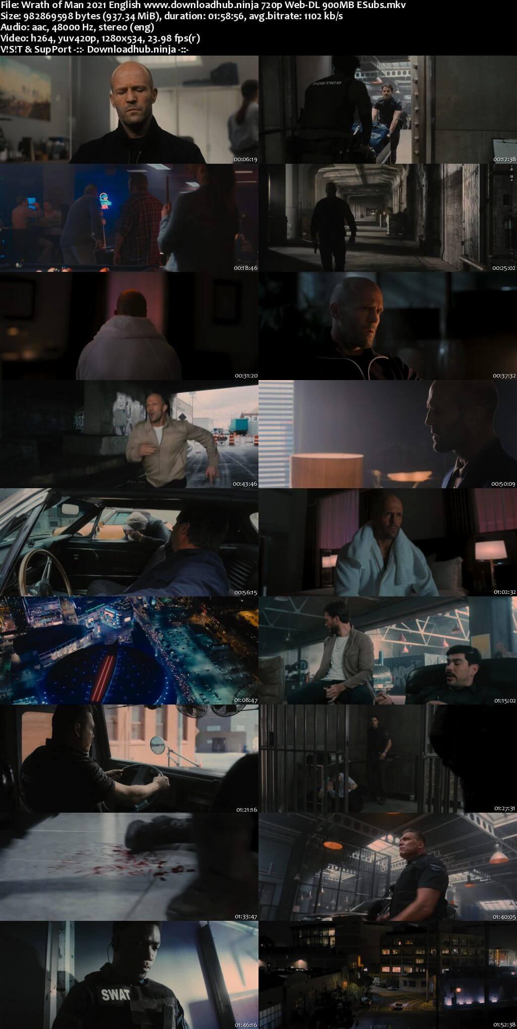 Wrath of Man 2021 English 720p Web-DL 900MB ESubs