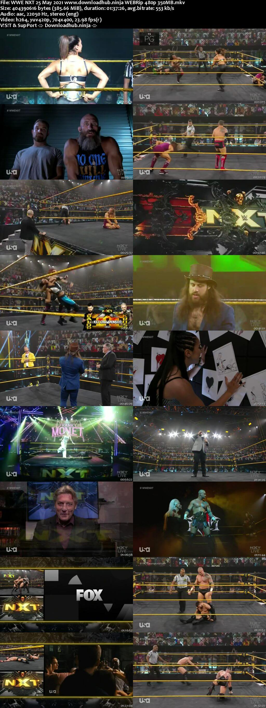 WWE NXT 25th May 2021 350MB WEBRip 480p