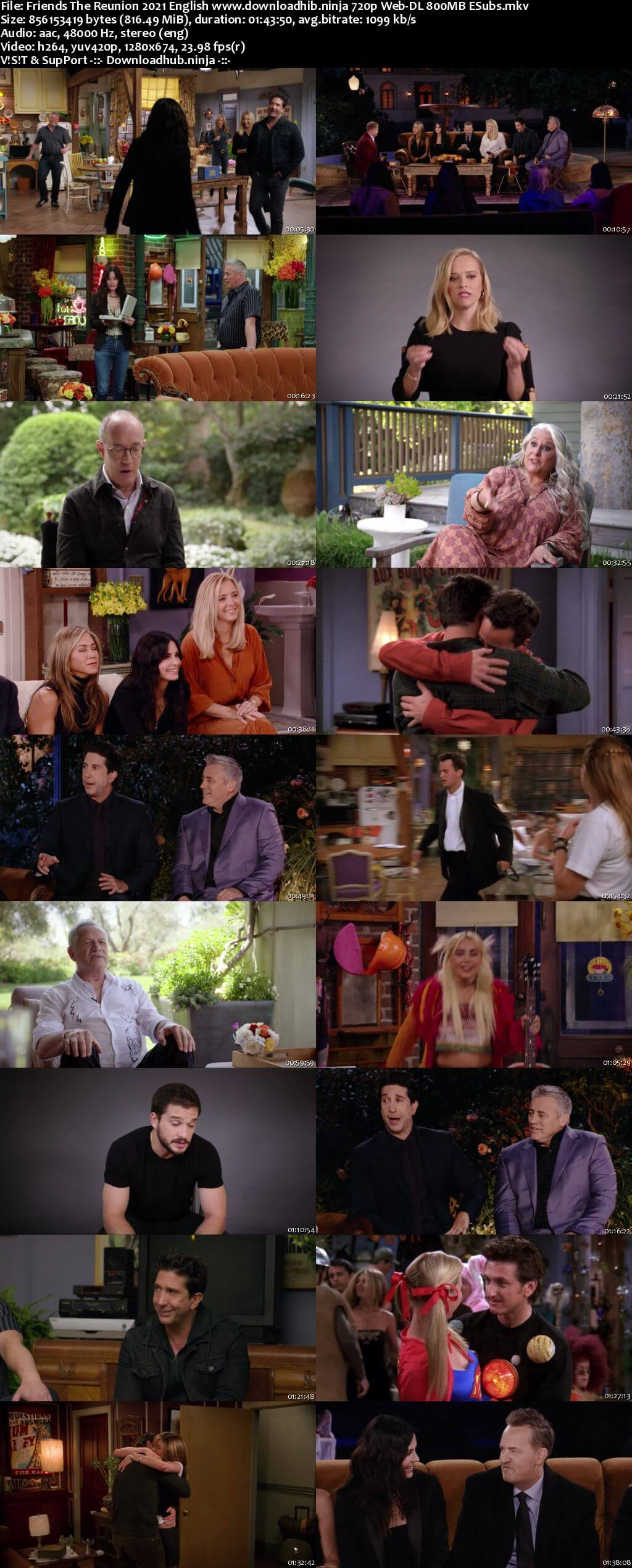 Friends The Reunion 2021 English 720p Web-DL 800MB ESubs