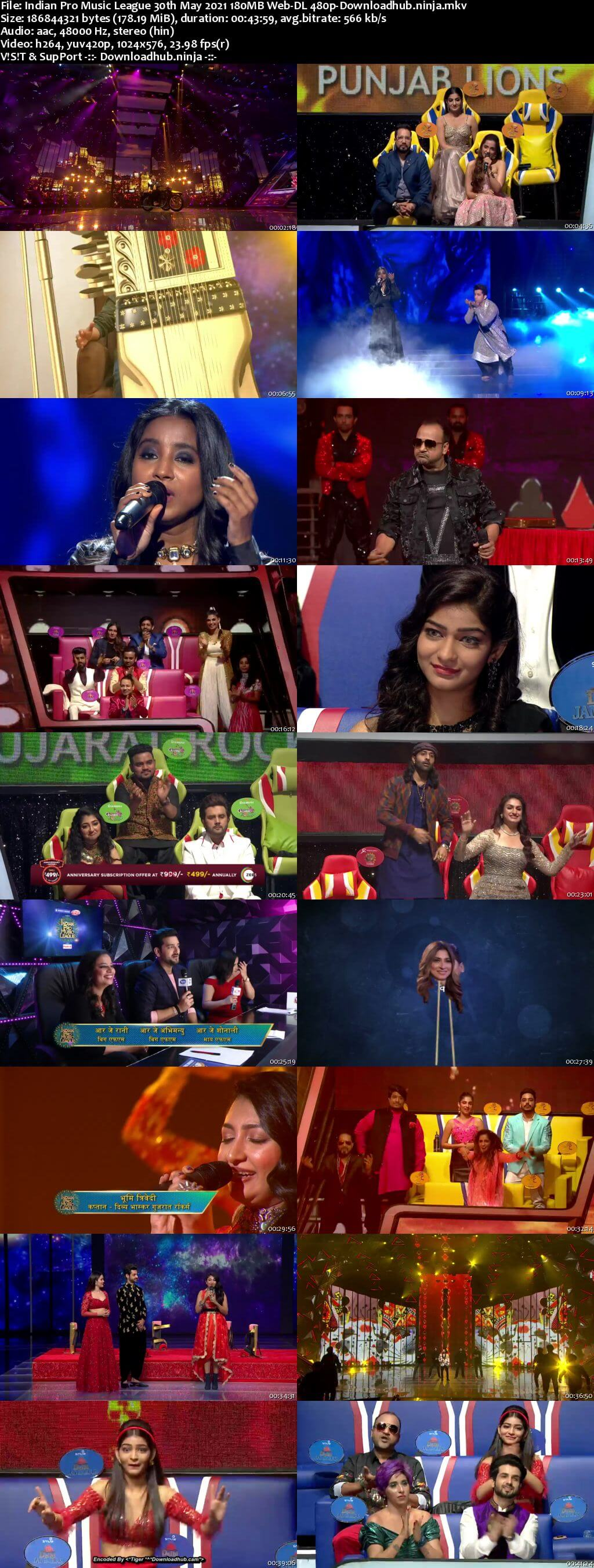 Indian Pro Music League 30th May 2021 180MB Web-DL 480p