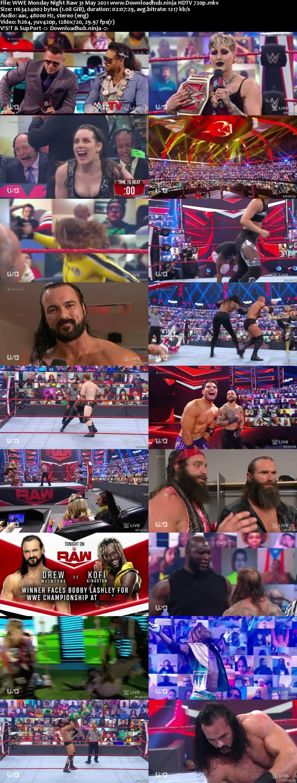 WWE Monday Night Raw 31st May 2021 720p 500MB HDTVRip 480p