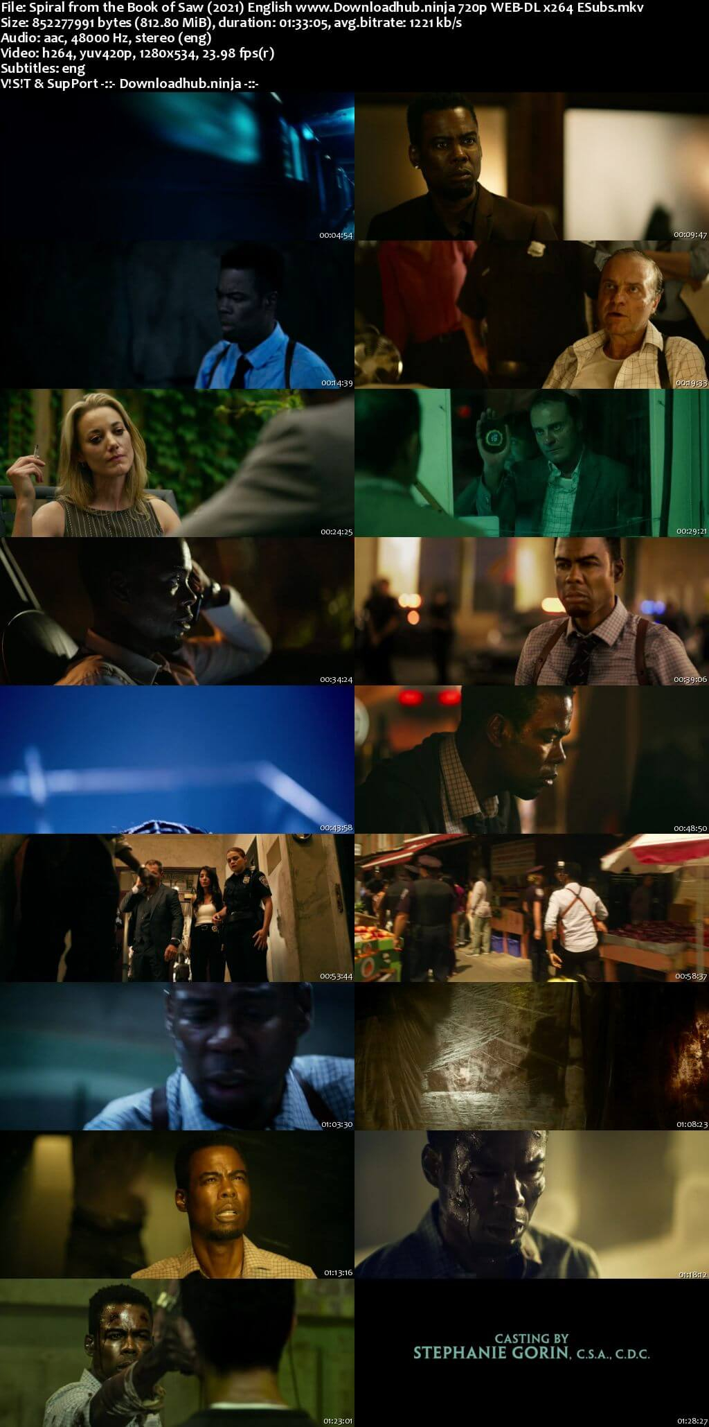 Spiral From the Book of Saw 2021 English 720p Web-DL 800MB ESubs