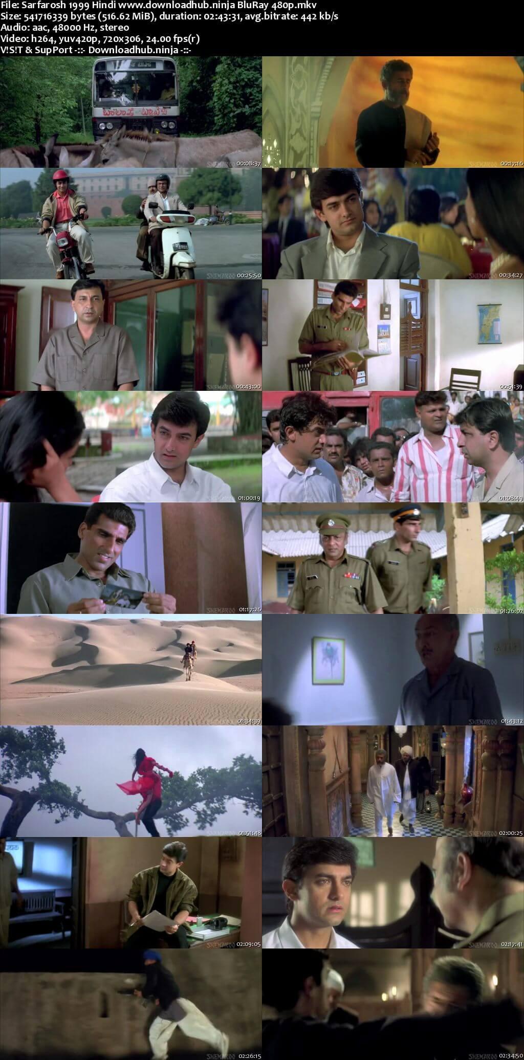 Sarfarosh 1999 Hindi 500MB BluRay 480p