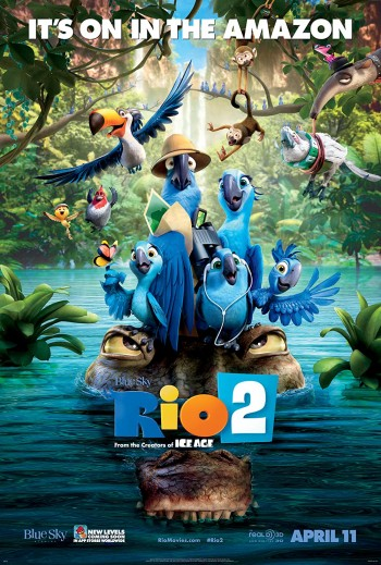 Rio 2 2014 Dual Audio Hindi English BRRip 720p 480p Movie Download