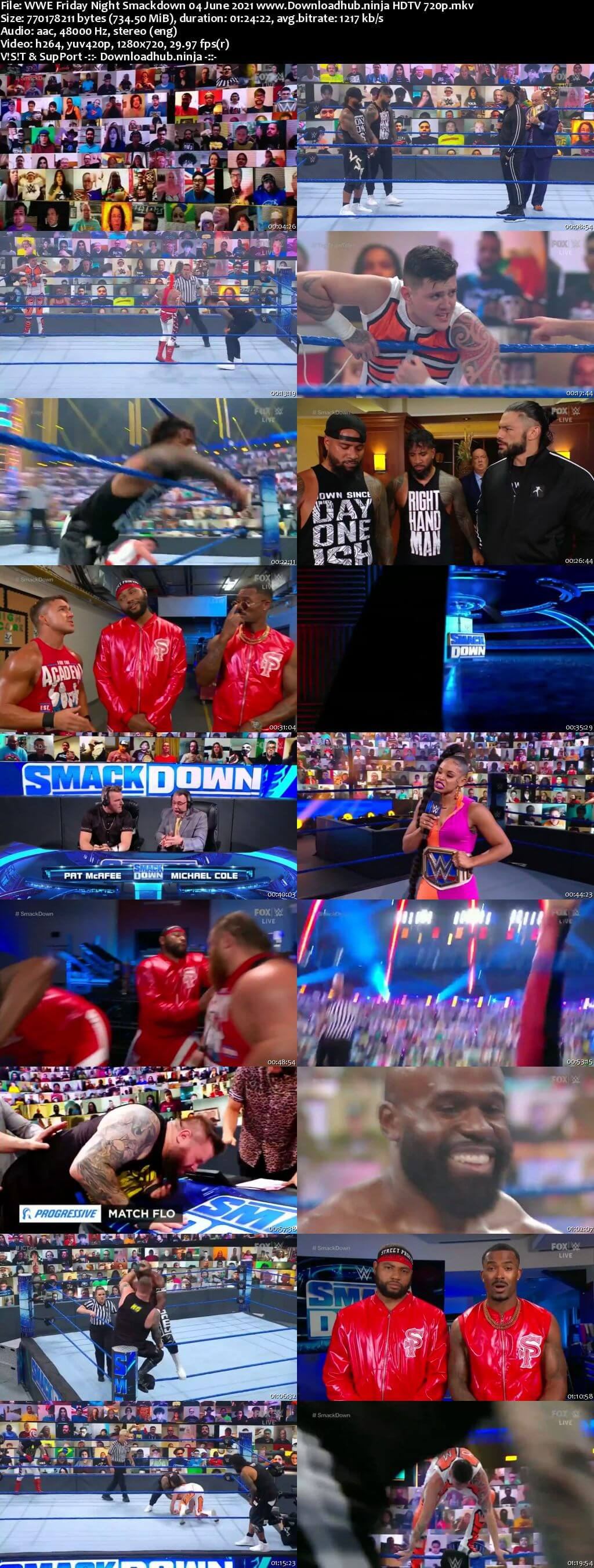 WWE Friday Night Smackdown 4th June 2021 720p 300MB HDTV 480p