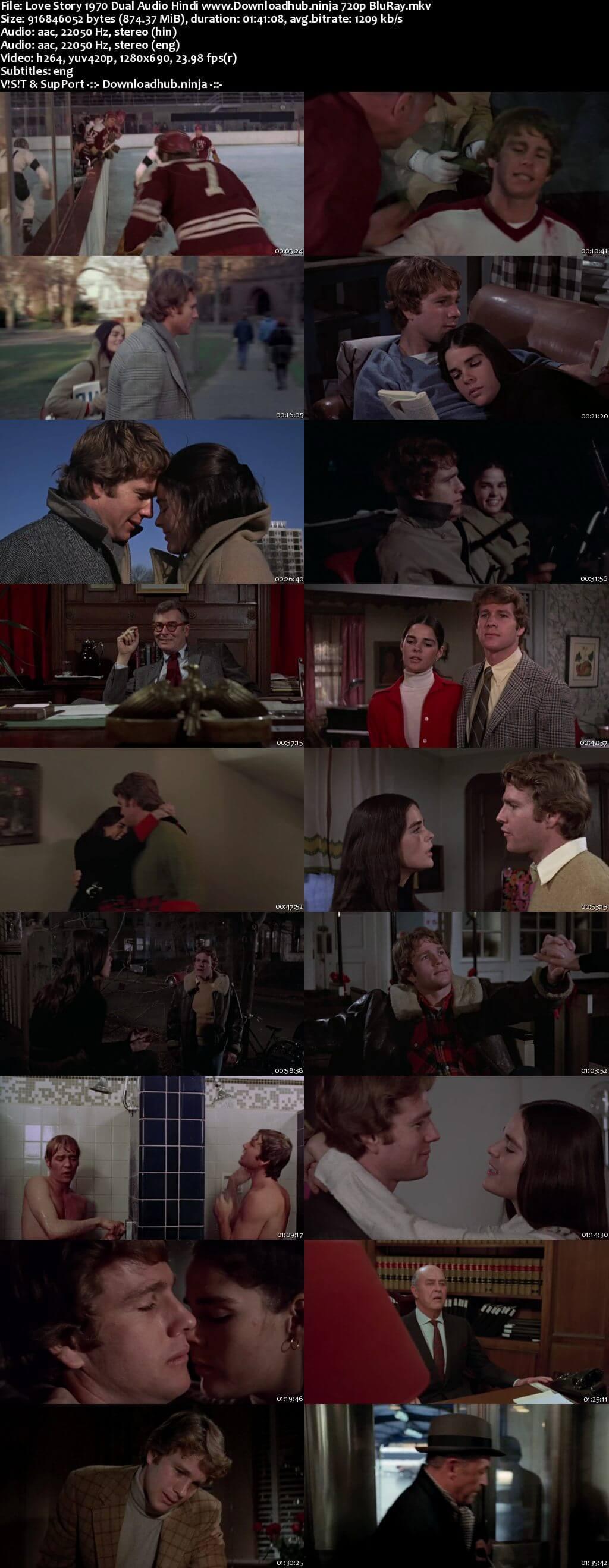 Love Story 1970 Hindi Dual Audio 720p BluRay ESubs