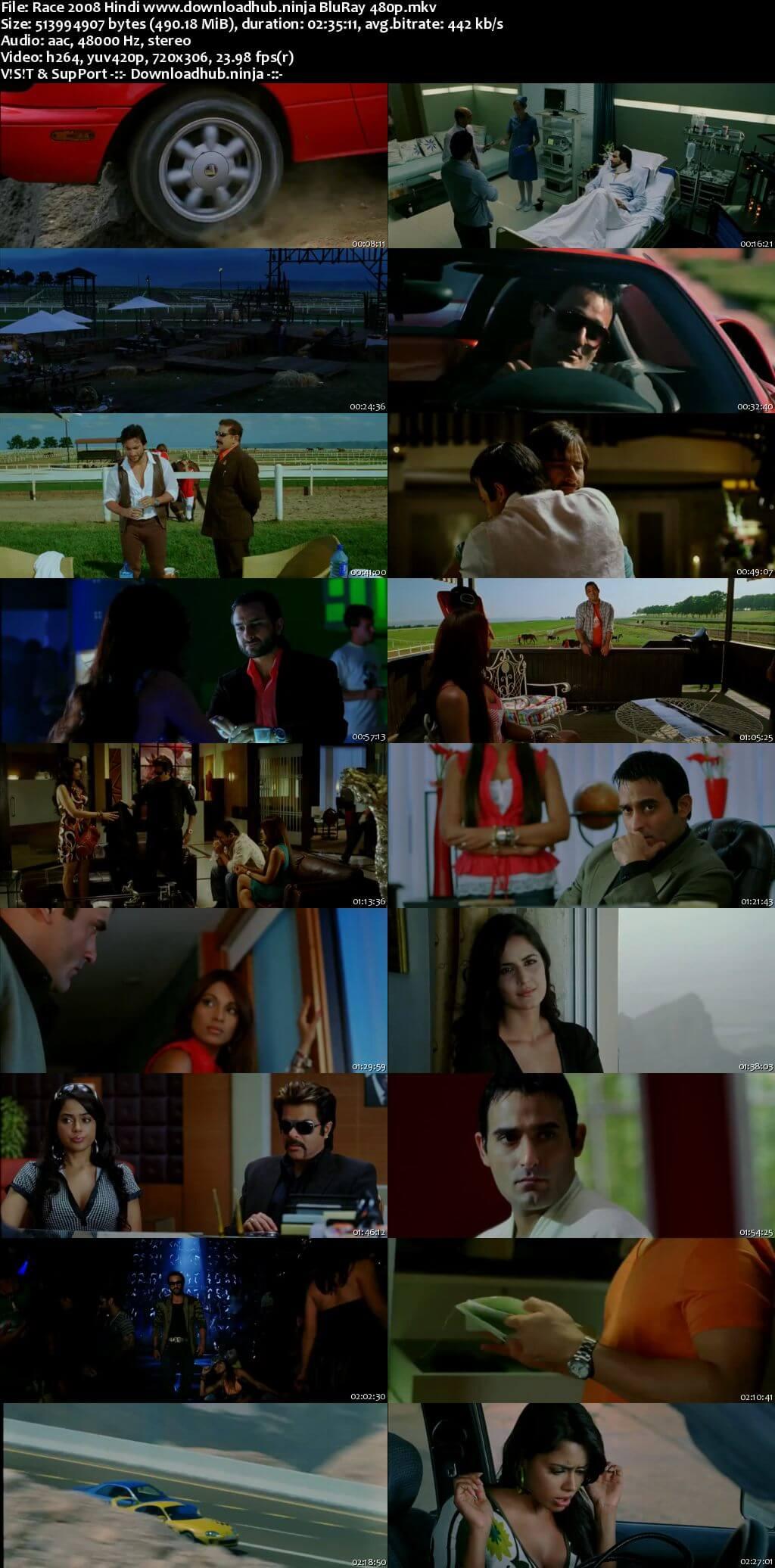 Race 2008 Hindi 450MB BluRay 480p