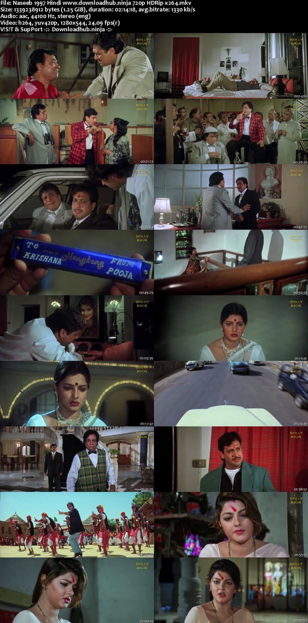 Naseeb 1997 Hindi 720p HDRip x264