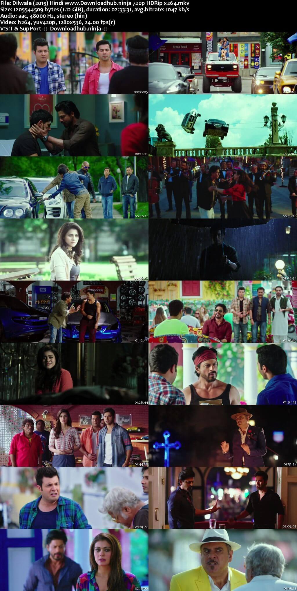 Dilwale 2015 Hindi 720p HDRip x264
