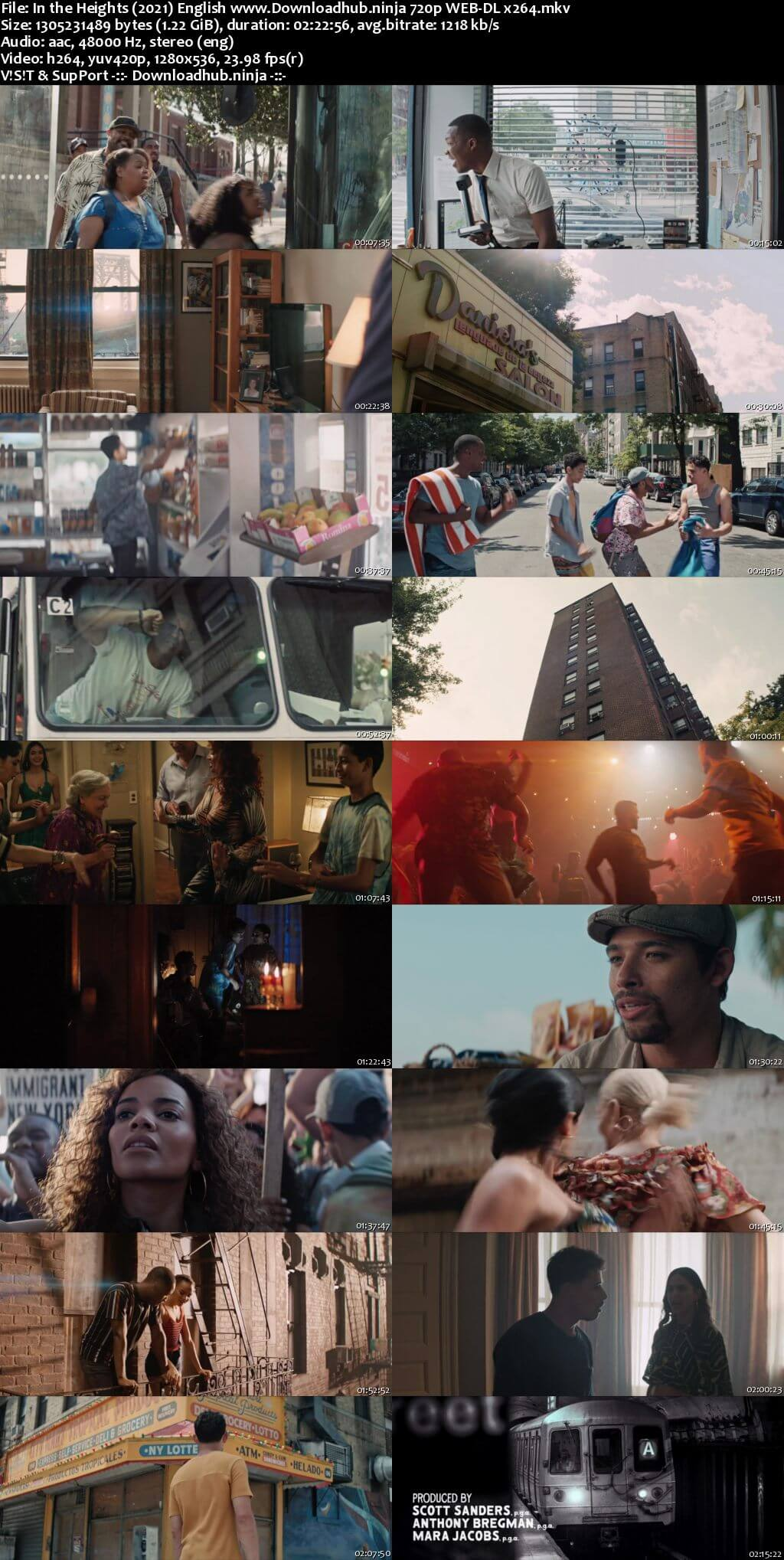 In the Heights 2021 English 720p Web-DL 1.2GB