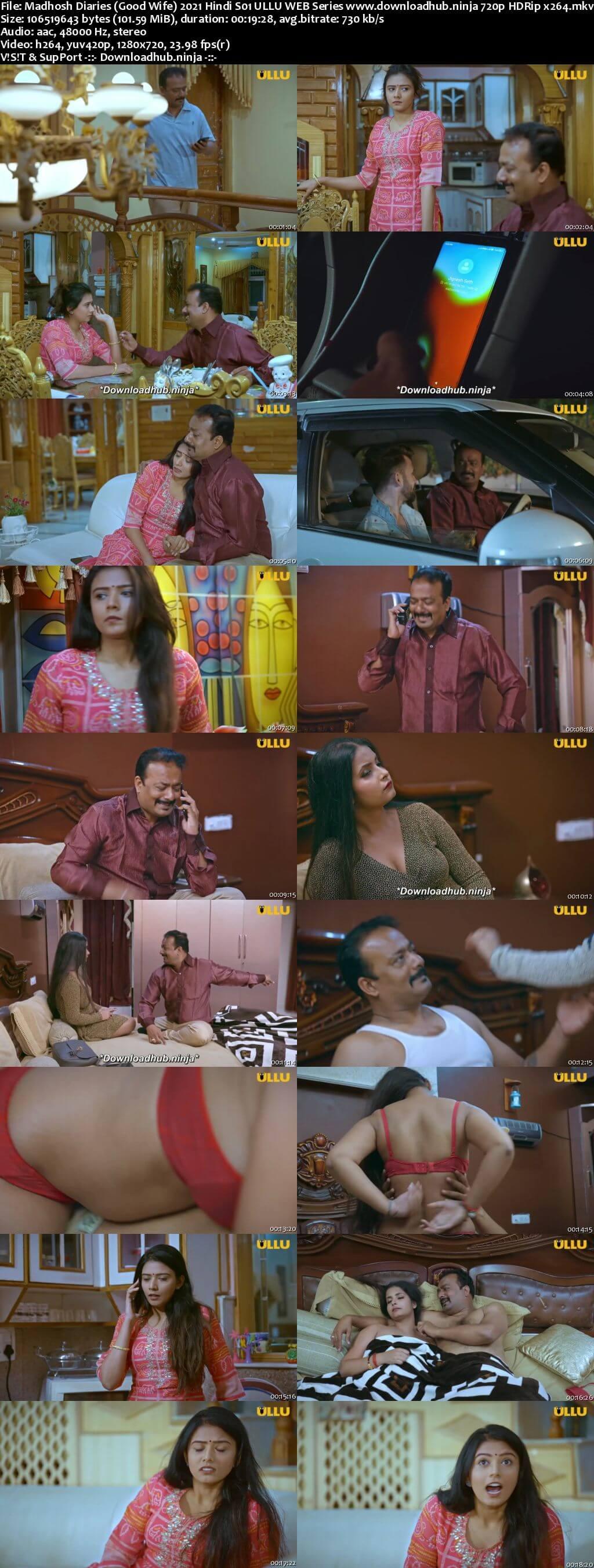 Madhosh Diaries (Good Wife) 2021 Hindi S01 ULLU WEB Series 720p HDRip x264