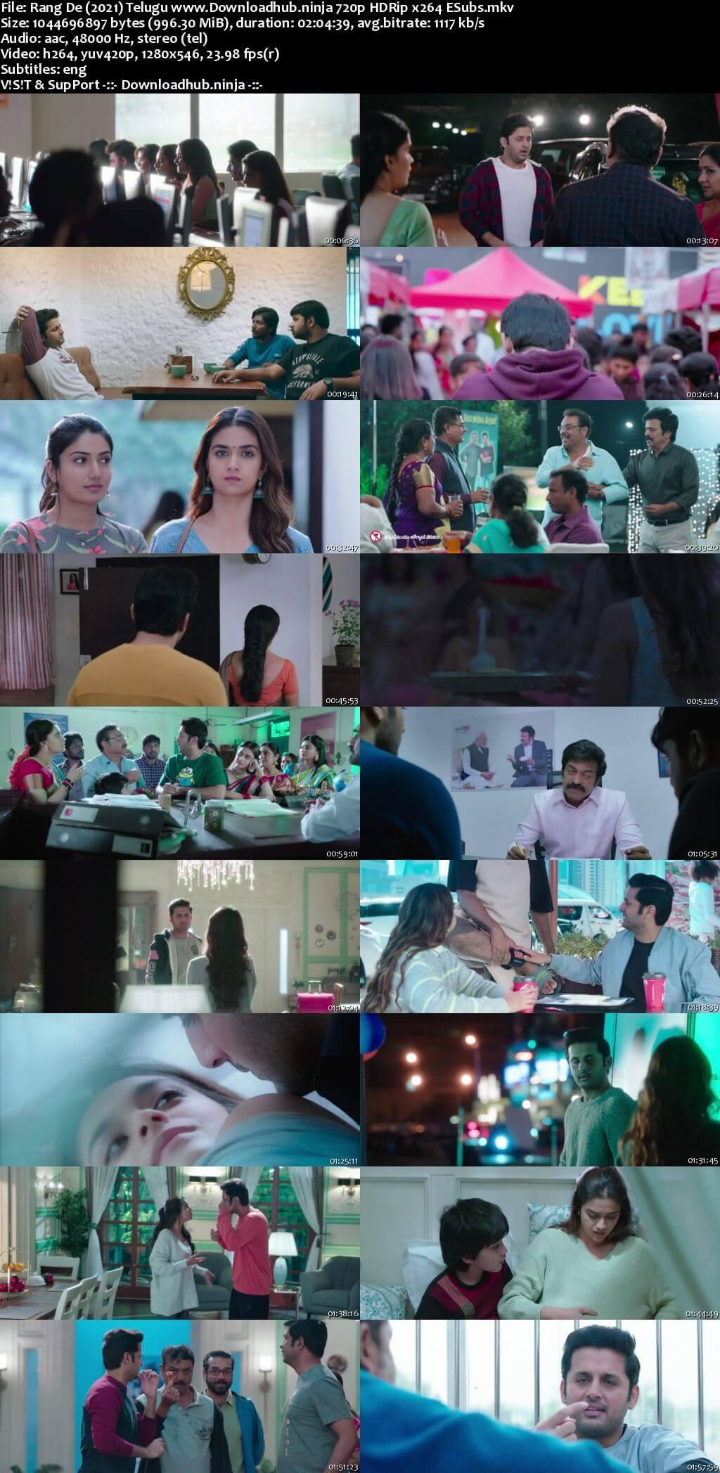 Rang De 2021 Telugu 720p HDRip ESubs