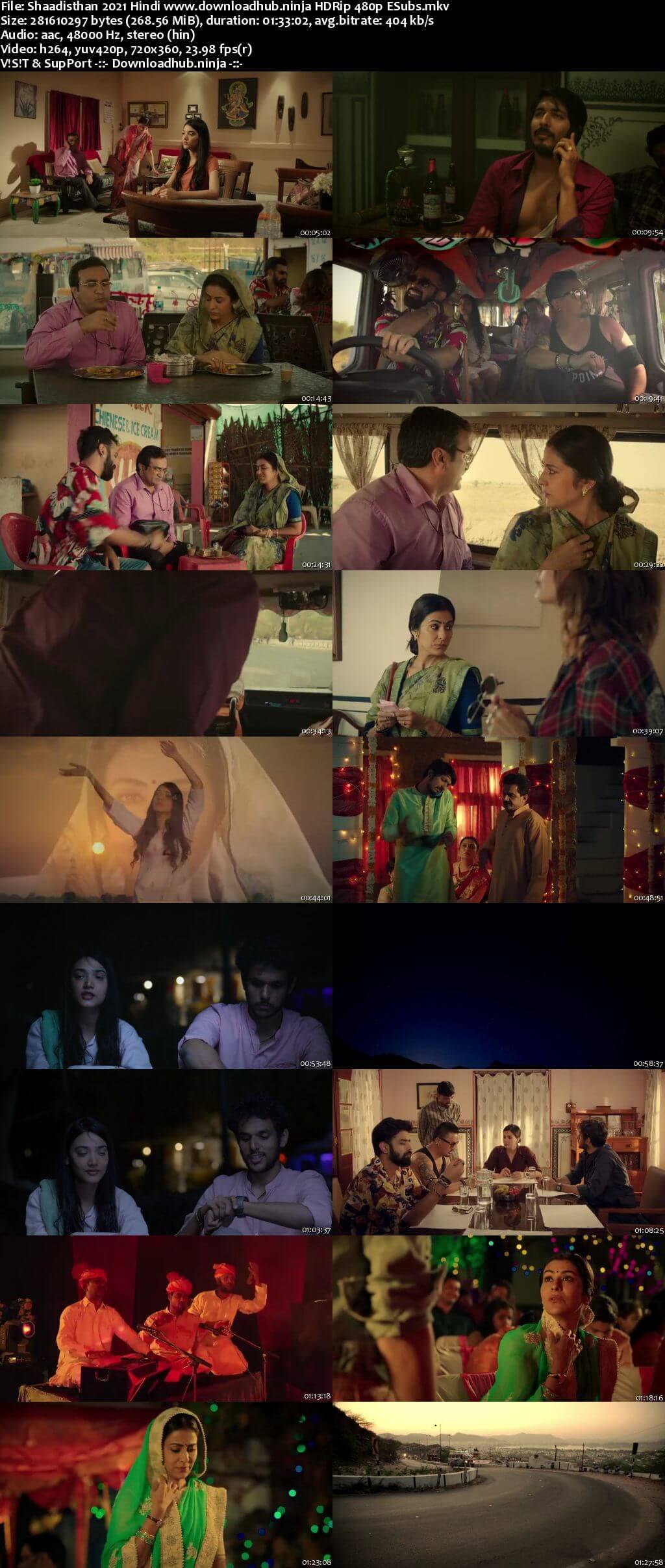 Shaadisthan 2021 Hindi 250MB HDRip 480p ESubs