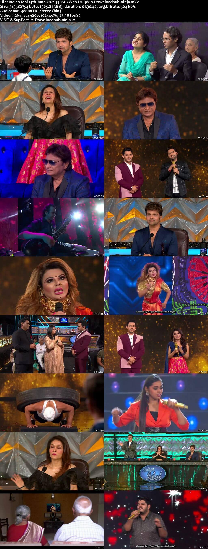 Indian Idol 13 June 2021 Episode 58 Web-DL 480p