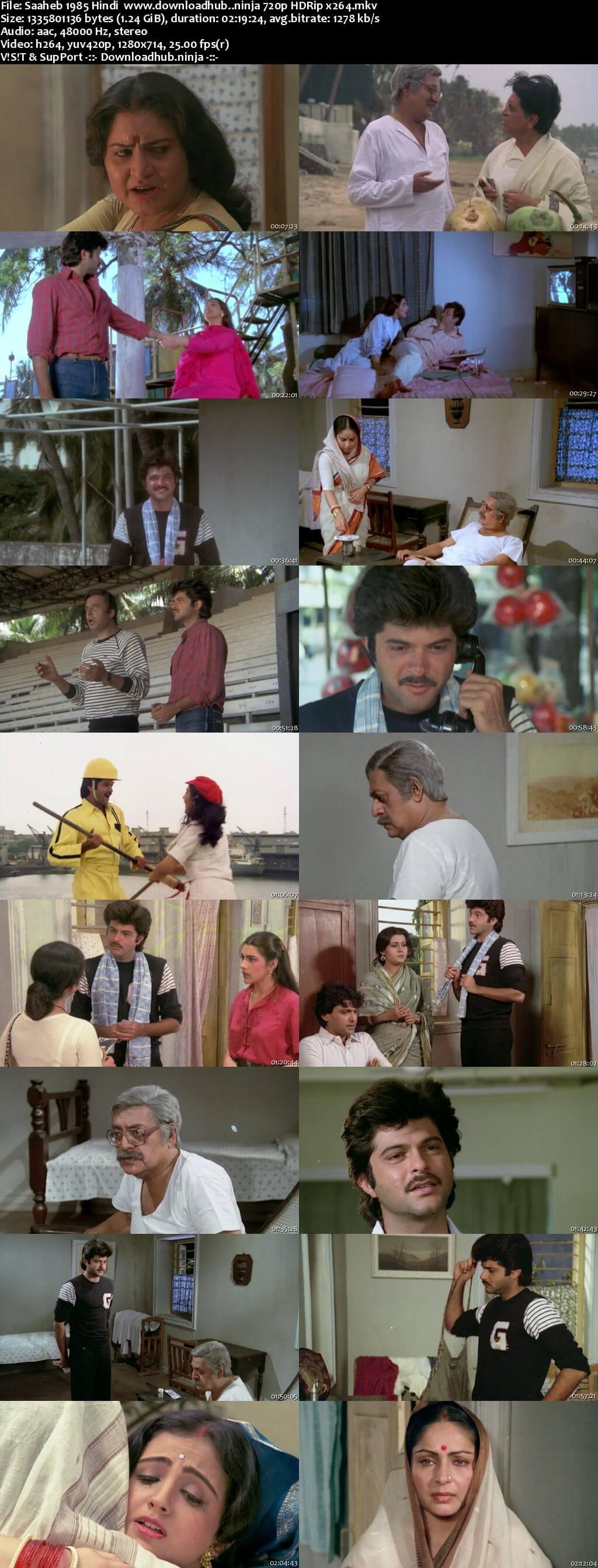 Saaheb 1985 Hindi 720p HDRip x264