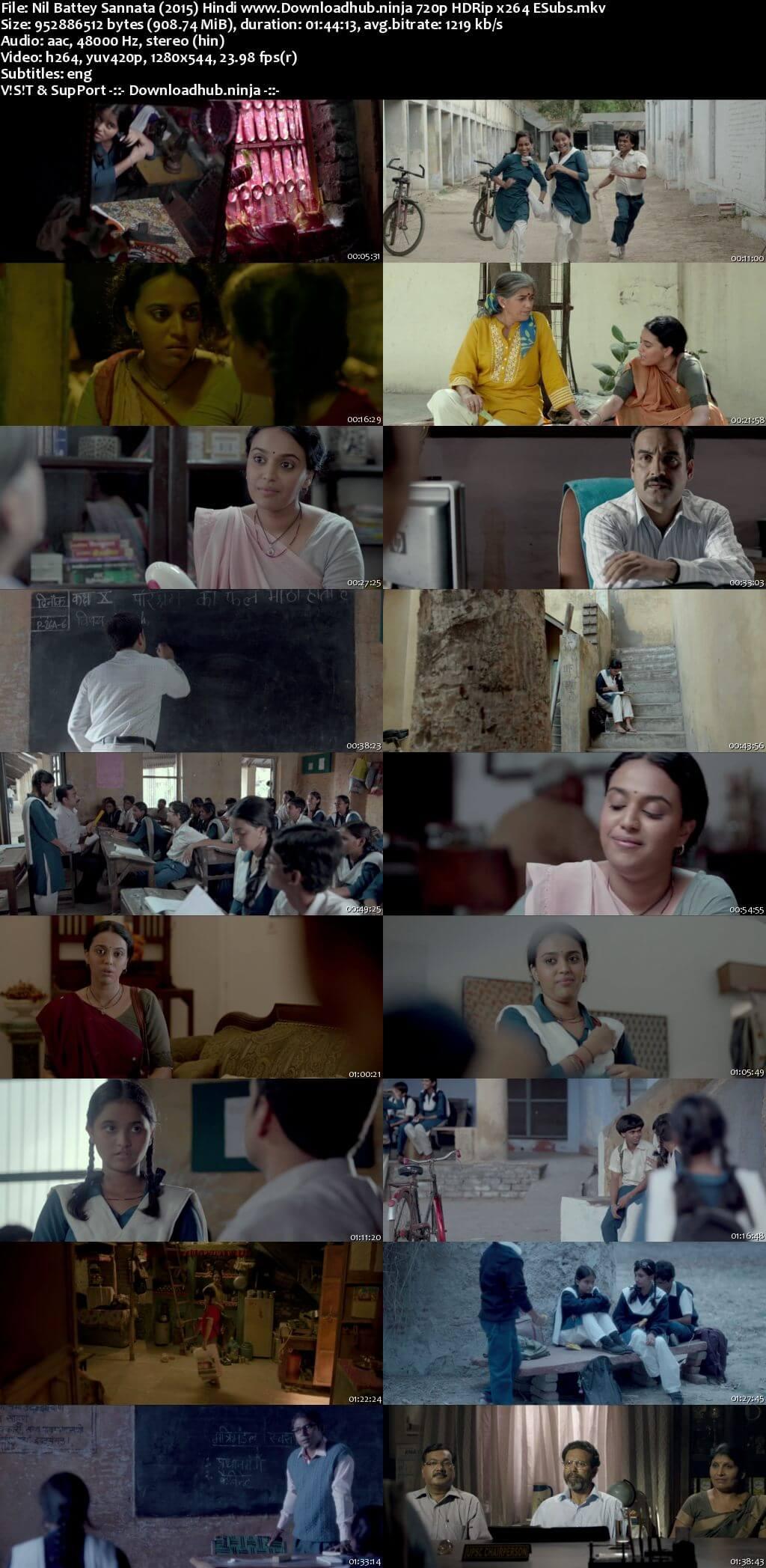 Nil Battey Sannata 2015 Hindi 720p HDRip ESubs
