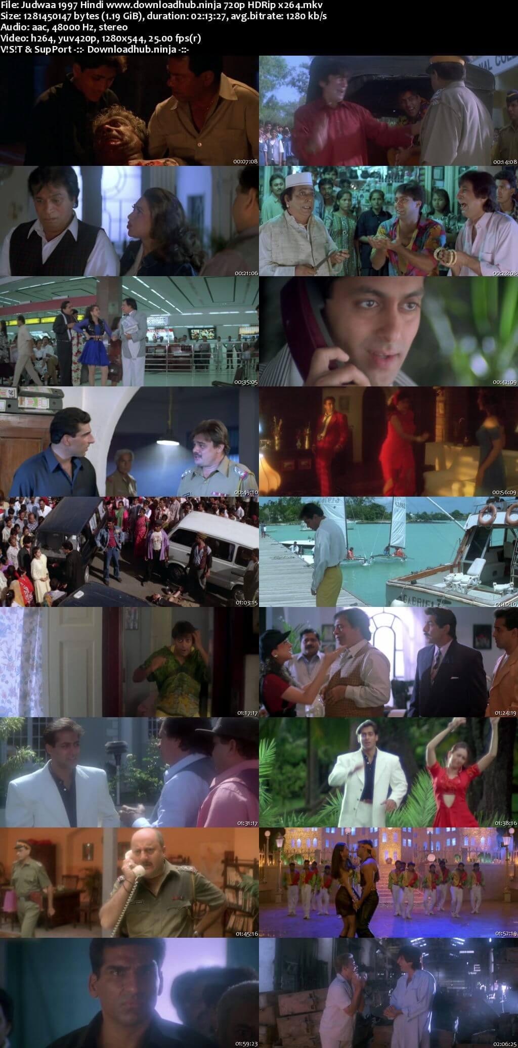 Judwaa 1997 Hindi 720p HDRip x264