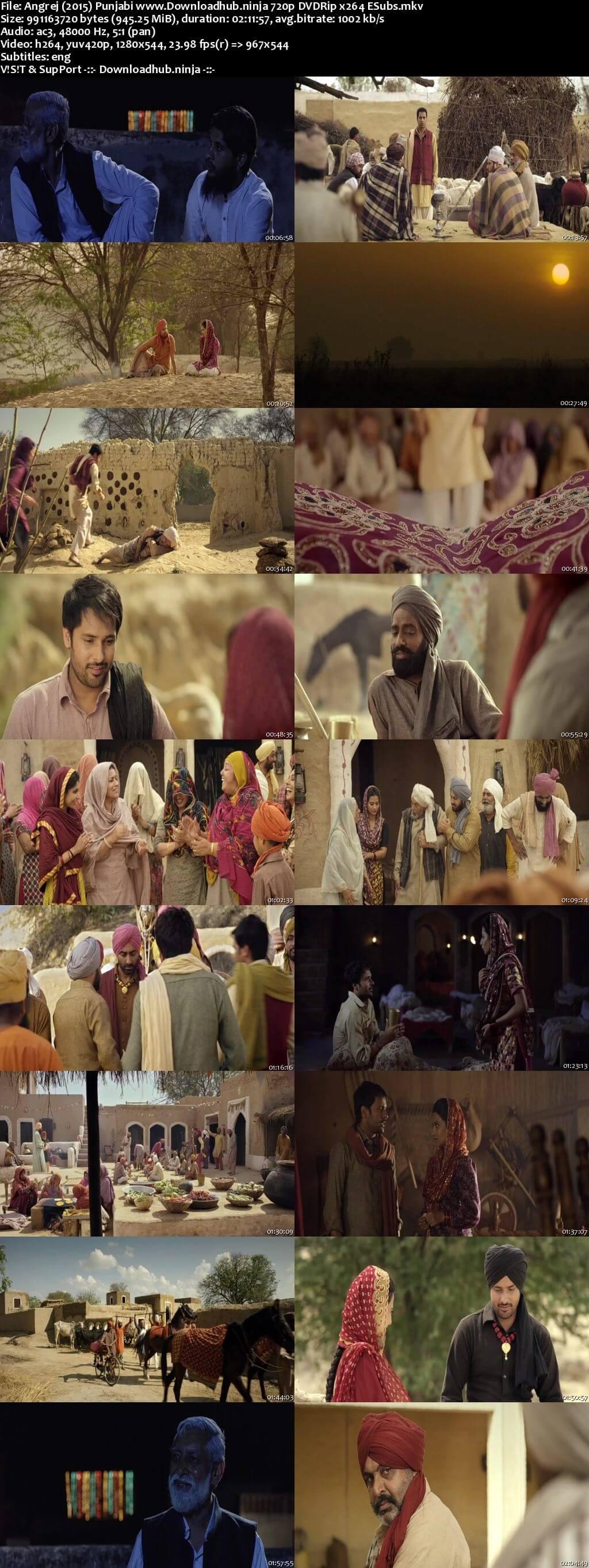 Angrej 2015 Punjabi 720p DVDRip ESubs