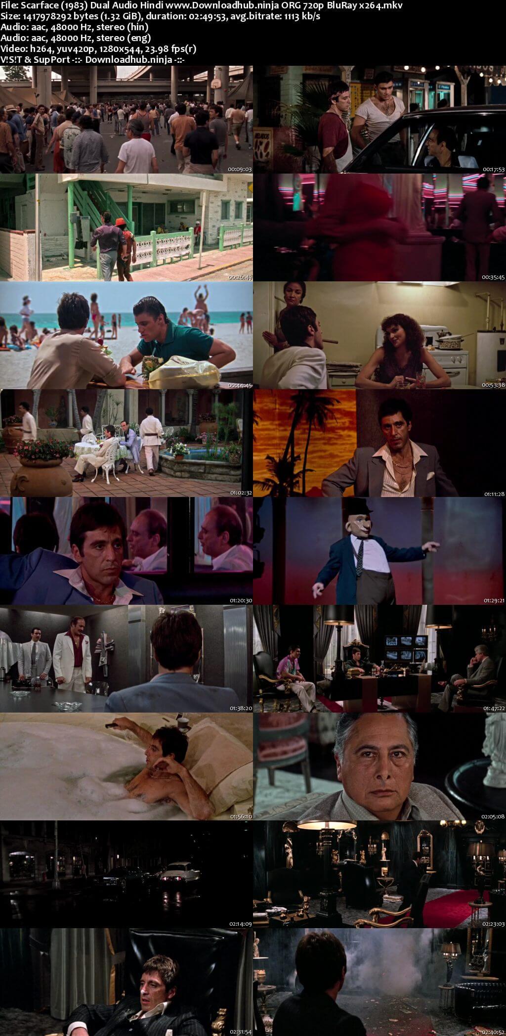 Scarface 1983 Hindi Dual Audio 720p BluRay x264