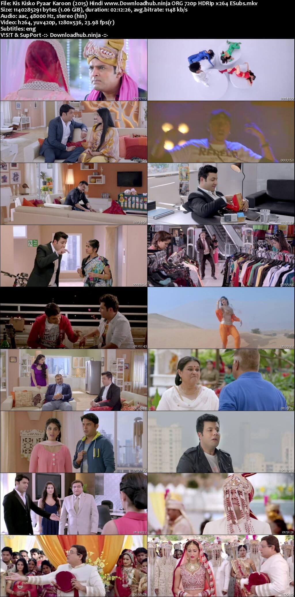 Kis Kisko Pyaar Karoon 2015 Hindi 720p HDRip ESubs