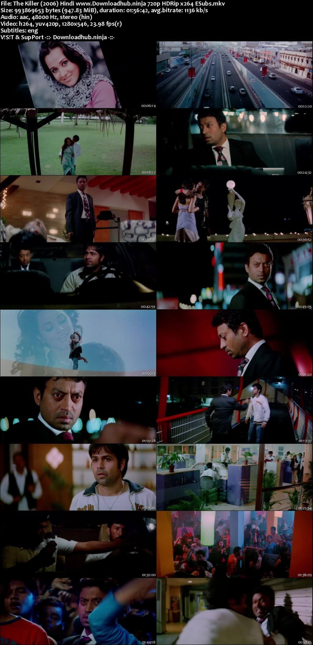The Killer 2006 Hindi 720p HDRip ESubs