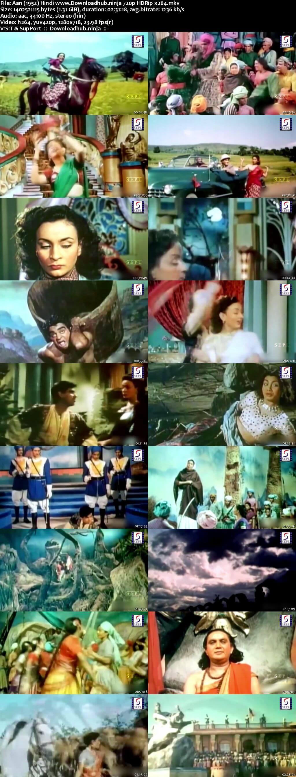 Aan 1952 Hindi 720p HDRip x264
