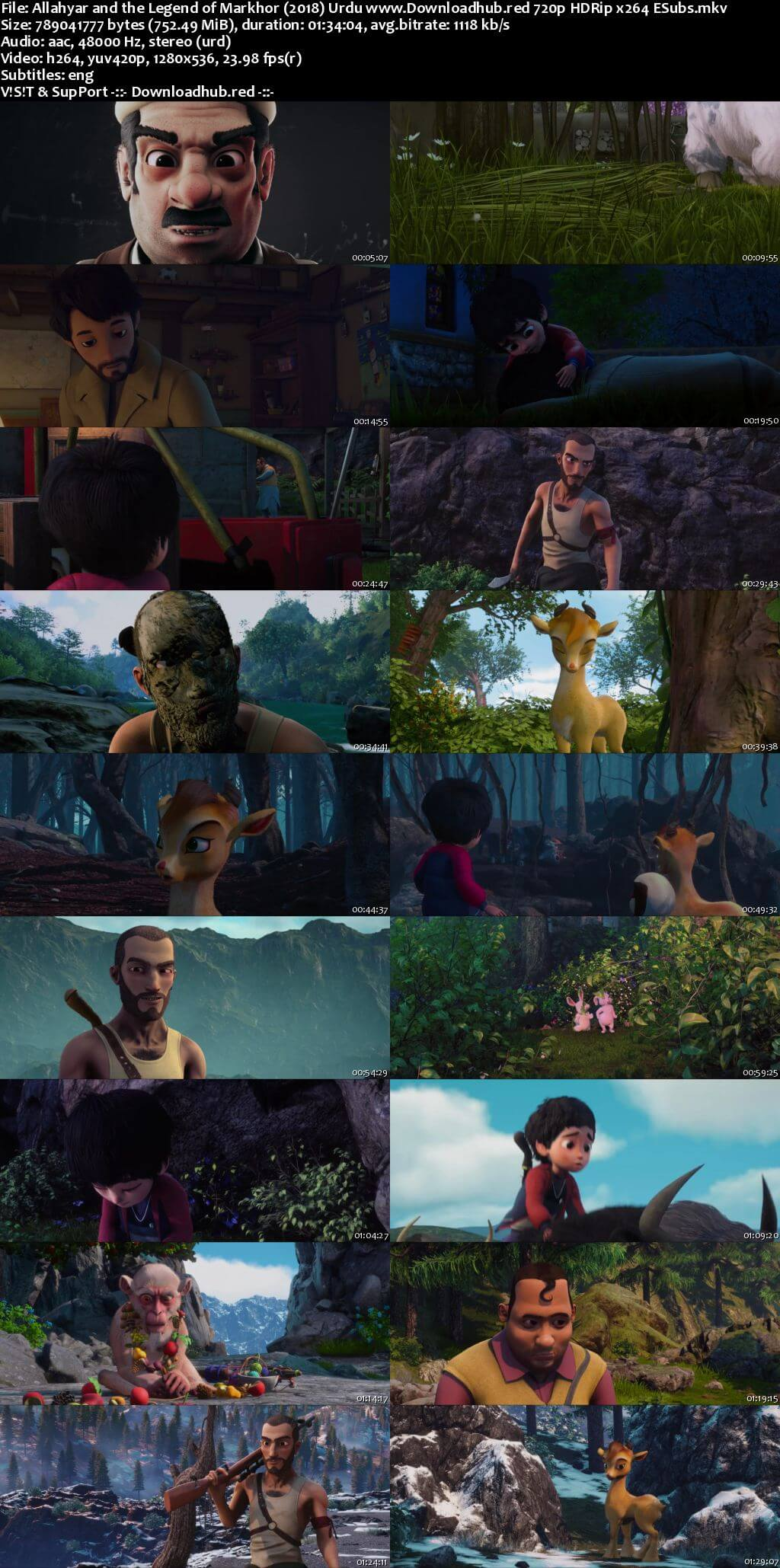 Allahyar and the Legend of Markhor 2018 Urdu 720p HDRip ESubs