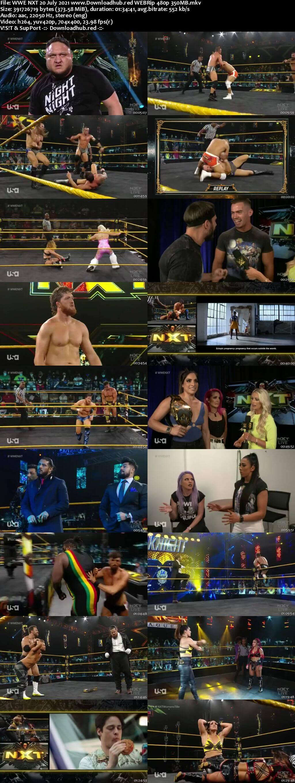 WWE NXT 20th July 2021 350MB WEBRip 480p
