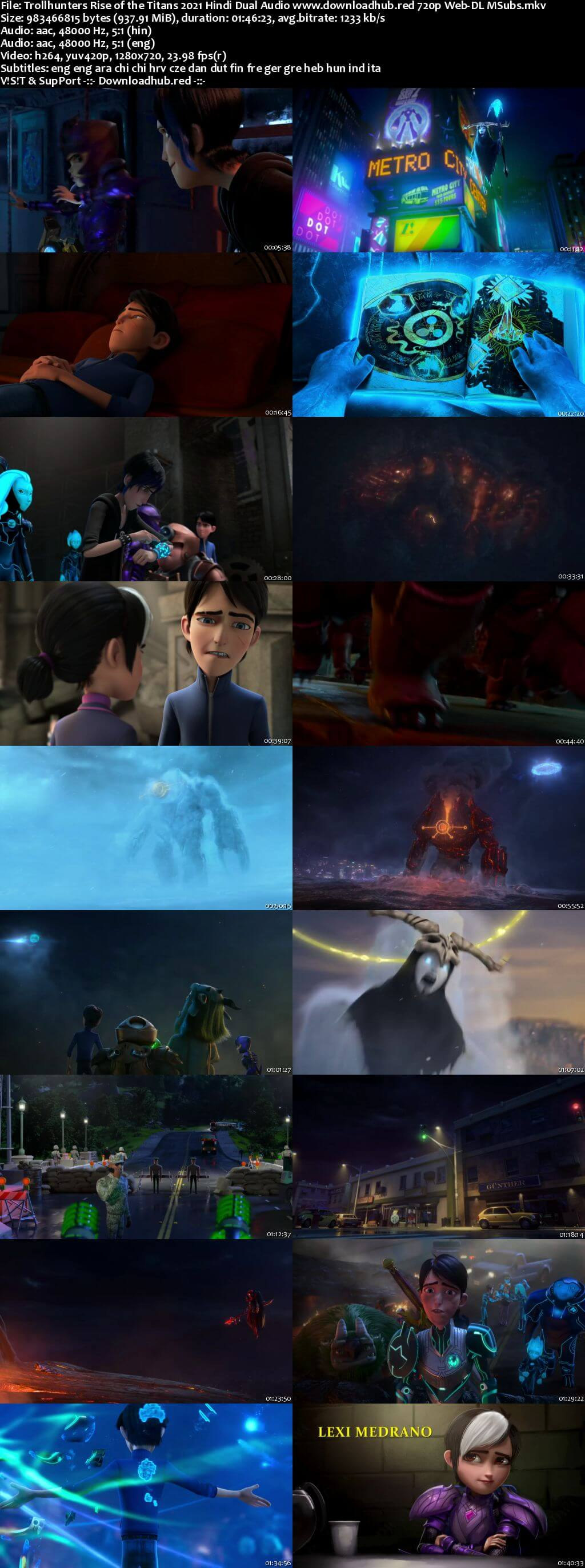 Trollhunters Rise of the Titans 2021 Hindi Dual Audio 720p Web-DL MSubs