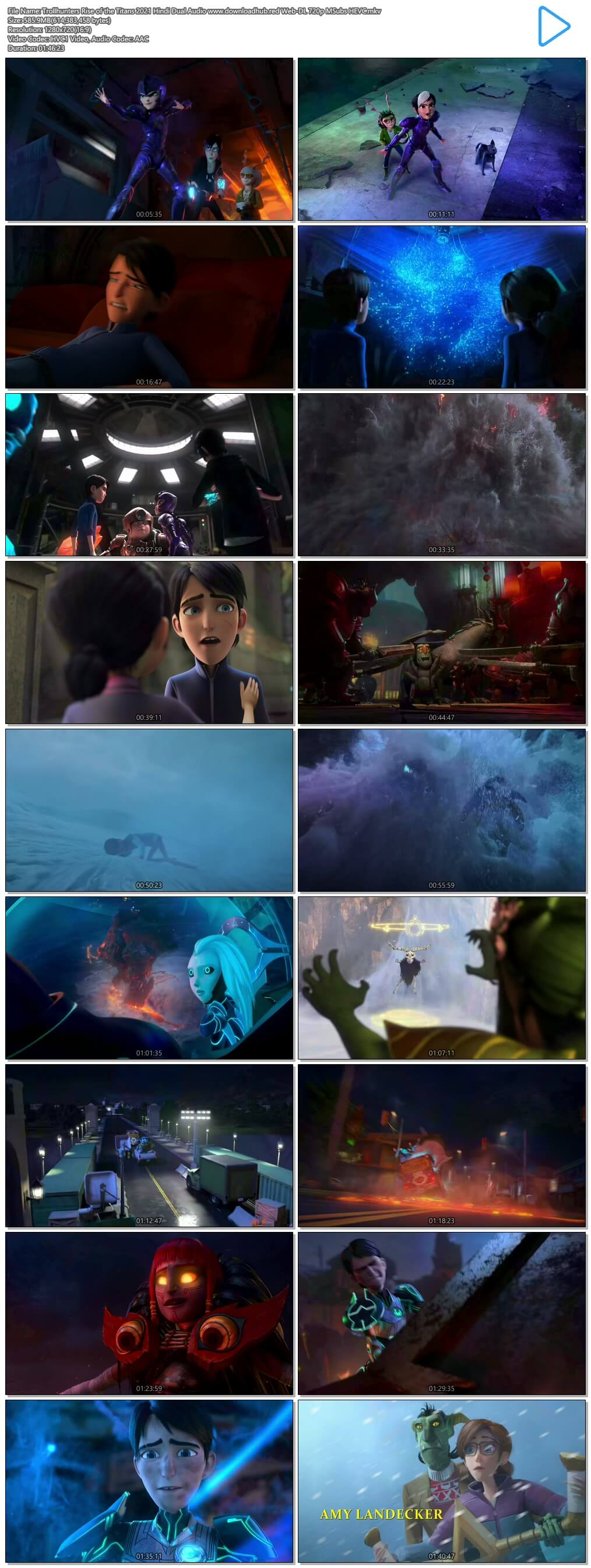 Trollhunters Rise of the Titans 2021 Hindi Dual Audio 550MB Web-DL 720p MSubs HEVC