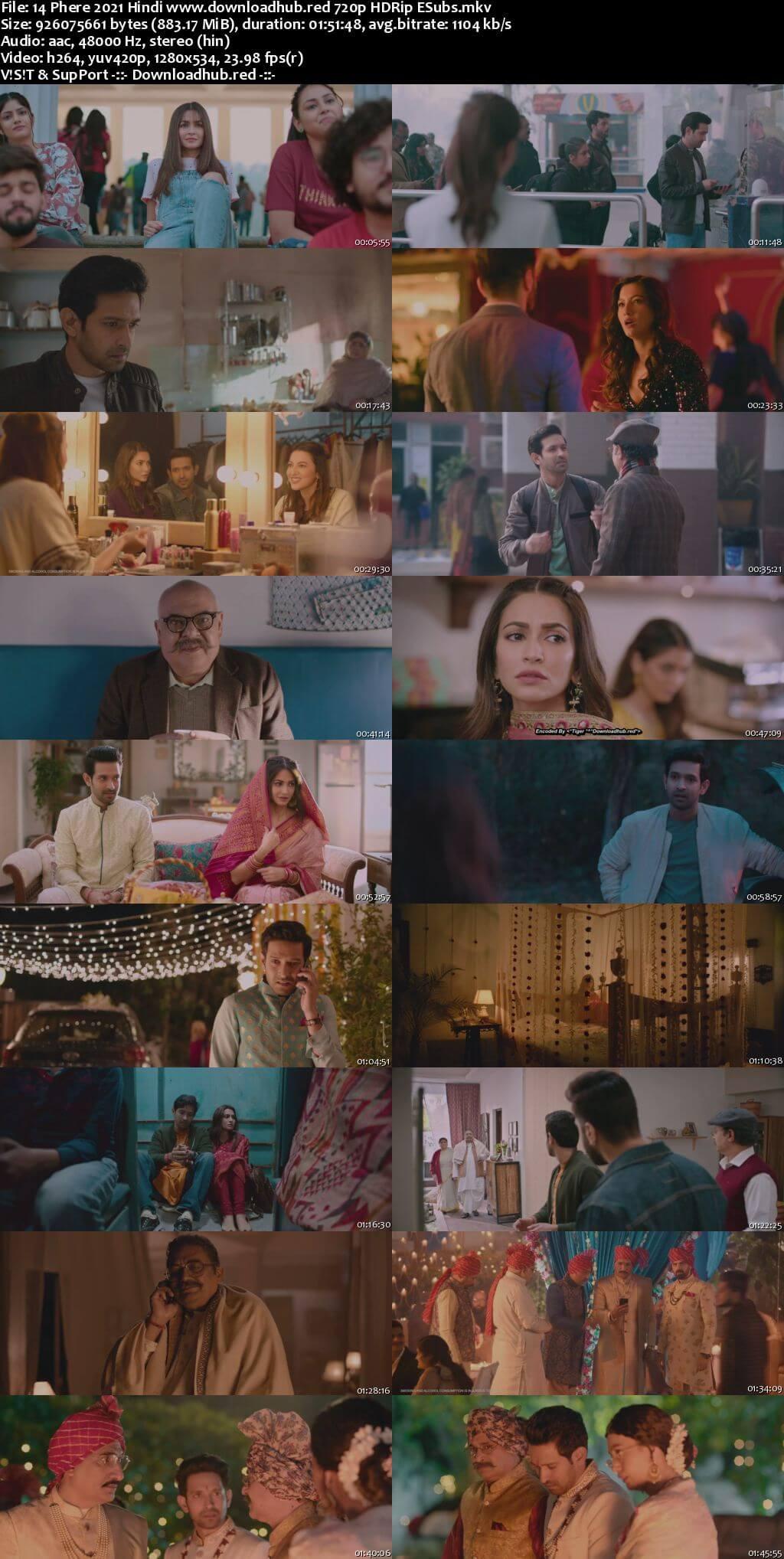 14 Phere 2021 Hindi 720p HDRip ESubs
