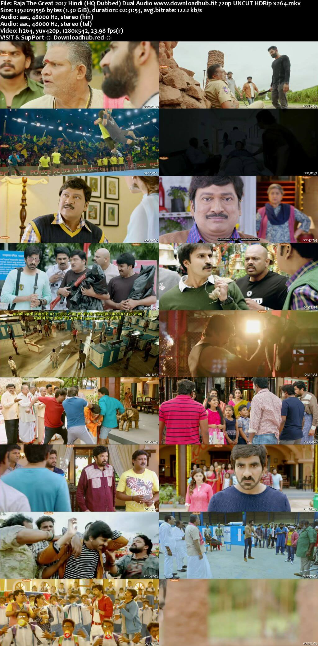Raja The Great 2017 Hindi (HQ Dubbed) Dual Audio 720p 480p UNCUT HDRip x264
