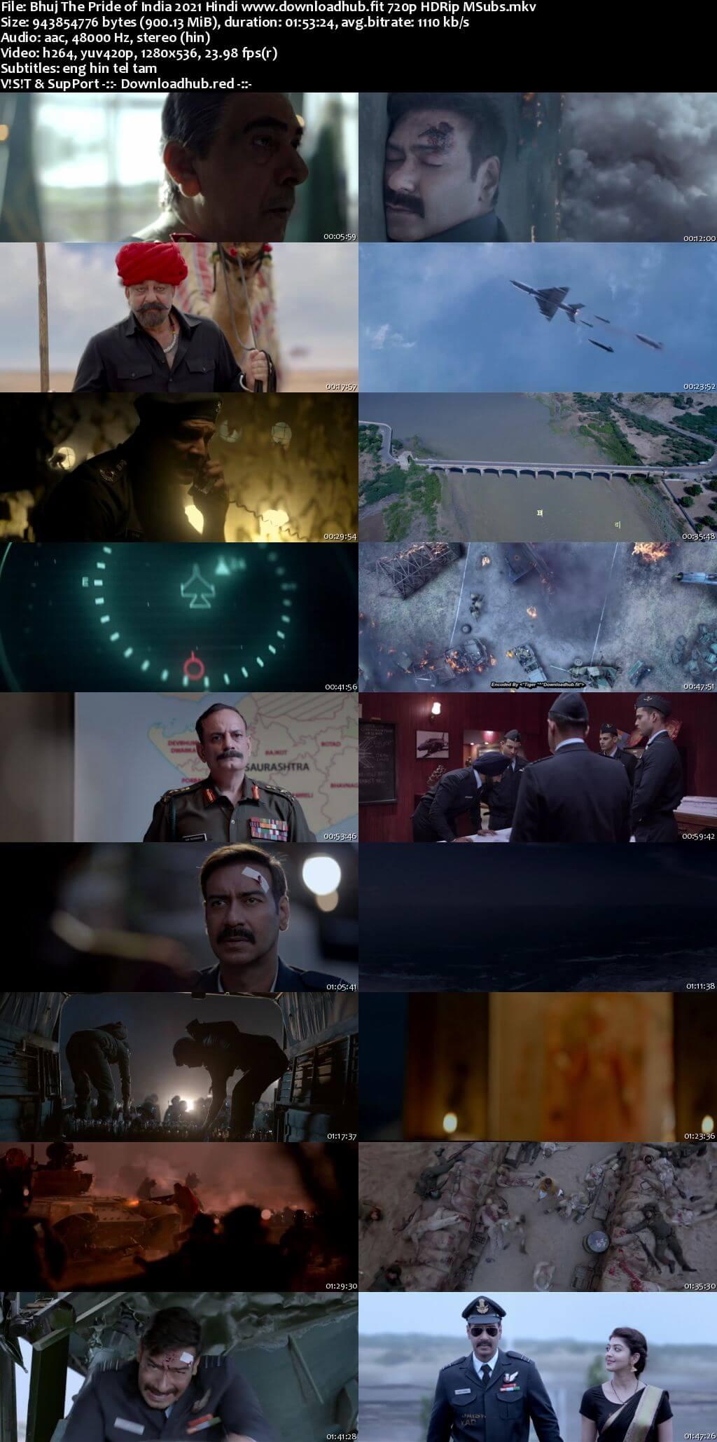 Bhuj The Pride of India 2021 Hindi 720p HDRip MSubs