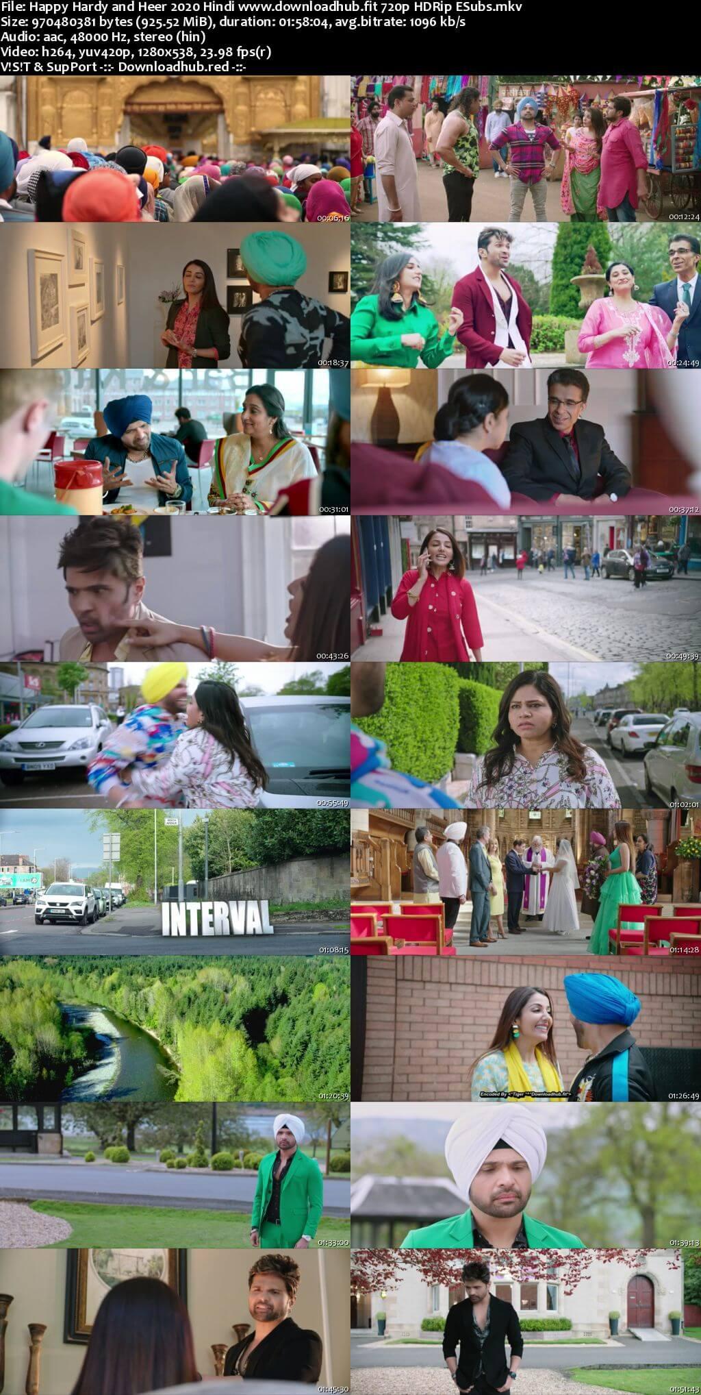 Happy Hardy and Heer 2020 Hindi 720p HDRip ESubs