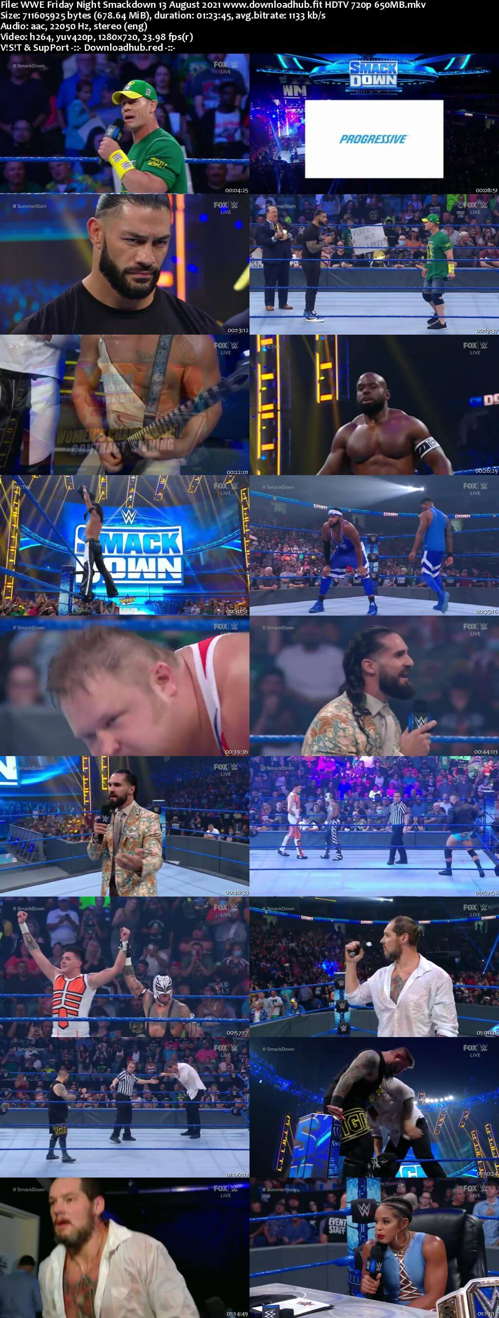 WWE Friday Night Smackdown 13th August 2021 720p 300MB HDTV 480p