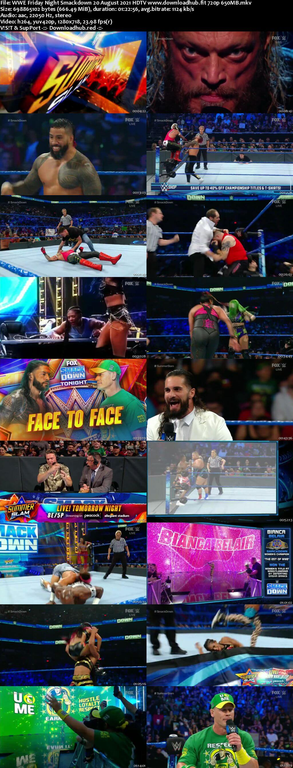 WWE Friday Night Smackdown 20th August 2021 720p 300MB HDTV 480p