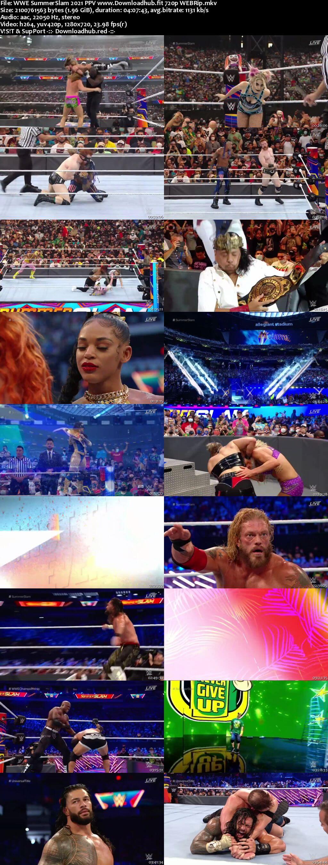 WWE SummerSlam 21st August 2021 720p 1.1GB PPV WEBRip 480p