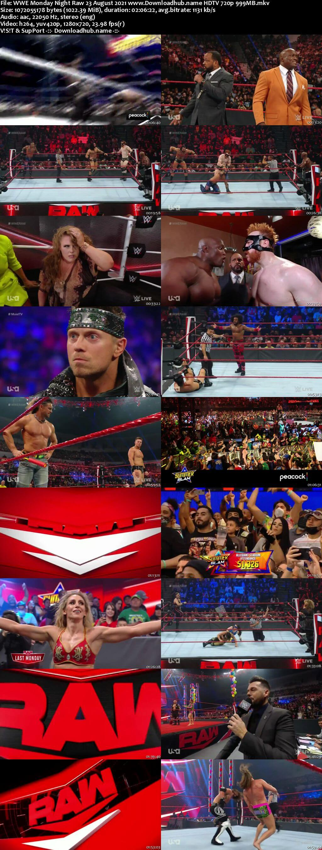 WWE Monday Night Raw 23rd August 2021 720p 500MB HDTVRip 480p