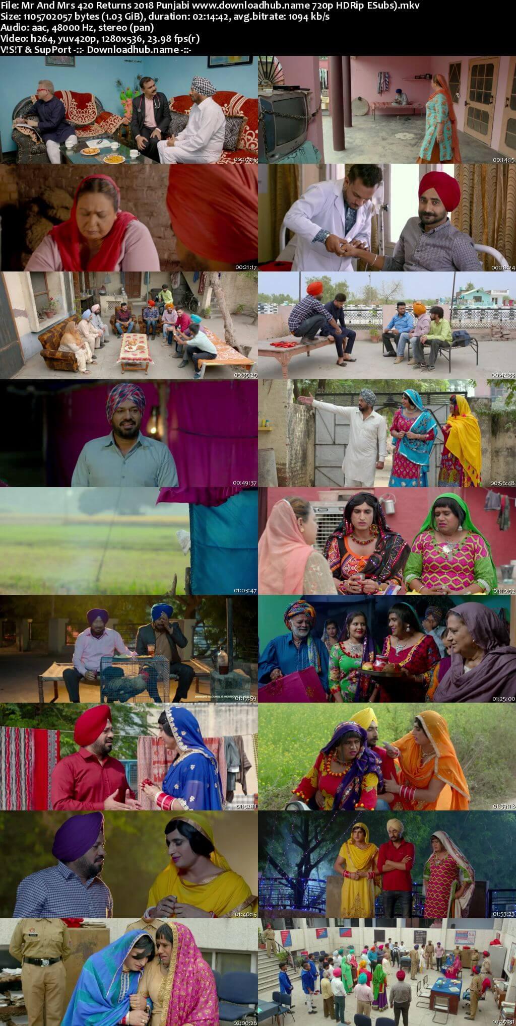 Mr And Mrs 420 Returns 2018 Punjabi 720p HDRip ESubs
