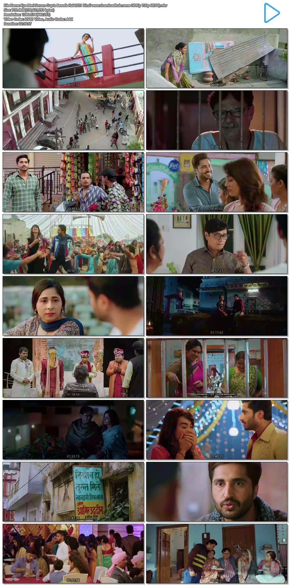 Kya Meri Sonam Gupta Bewafa Hai 2021 Hindi 700MB HDRip 720p HEVC