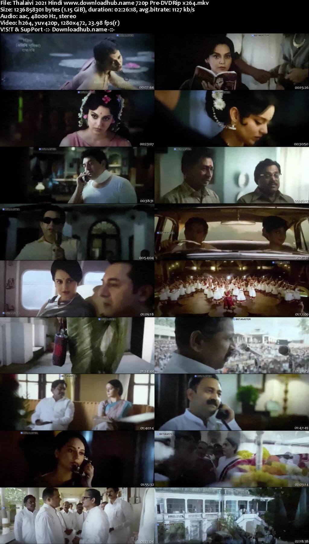 Thalaivi 2021 Hindi 720p 480p Pre-DVDRip x264