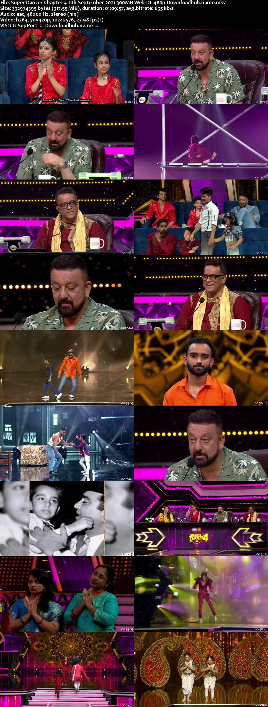 Super Dancer Chapter 4 11th September 2021 300MB Web-DL 480p
