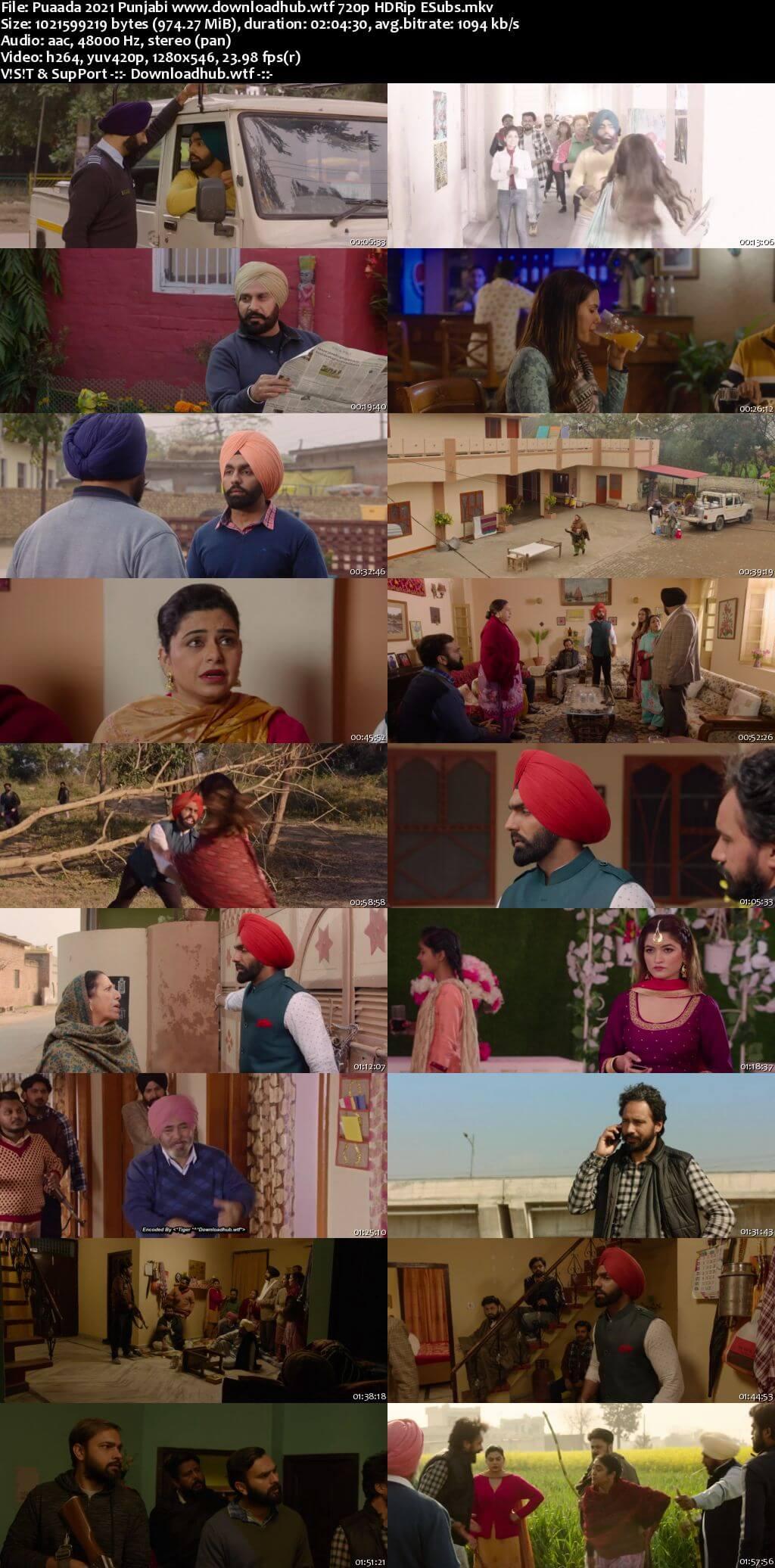 Puaada 2021 Punjabi 720p HDRip ESubs