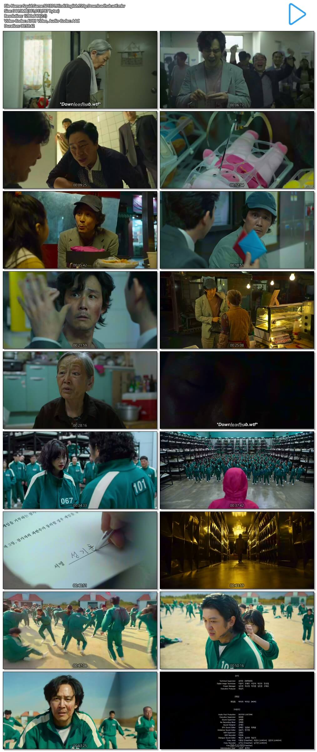 Squid Game 2021 S01 Complete Hindi Dual Audio 720p Web-DL MSubs