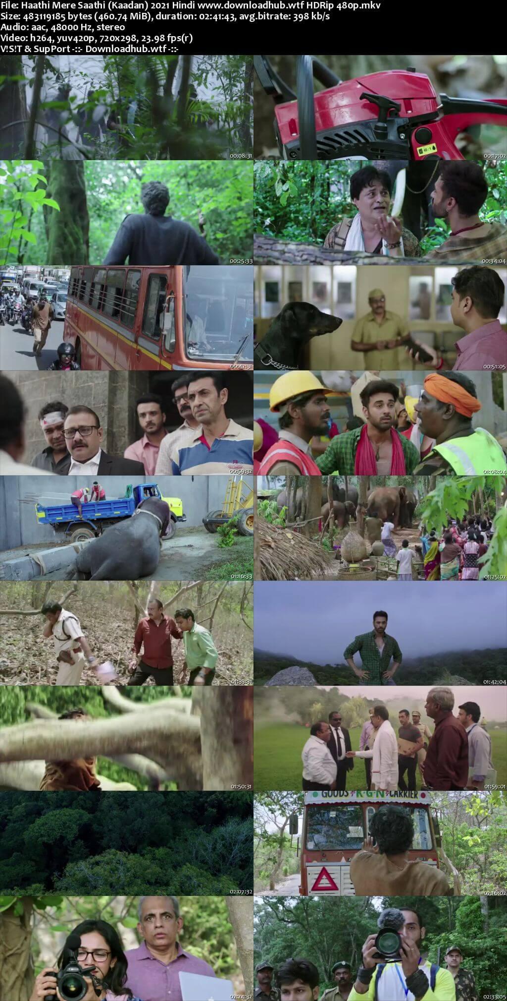 Haathi Mere Saathi (Kaadan) 2021 Hindi 450MB HDRip 480p