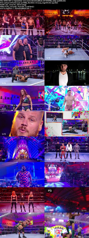 WWE NXT 21 September 2021 350MB WEBRip 480p
