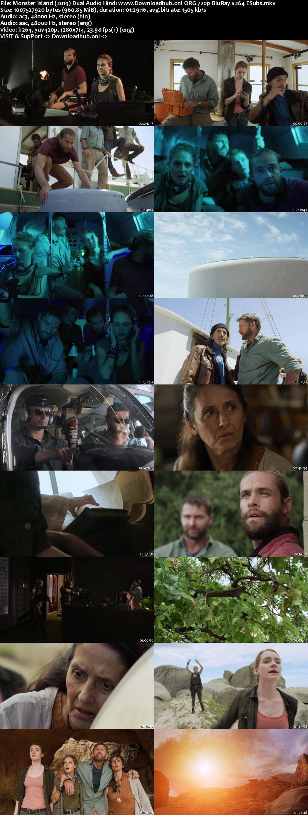 Monster Island 2019 Hindi Dual Audio 720p BluRay ESubs